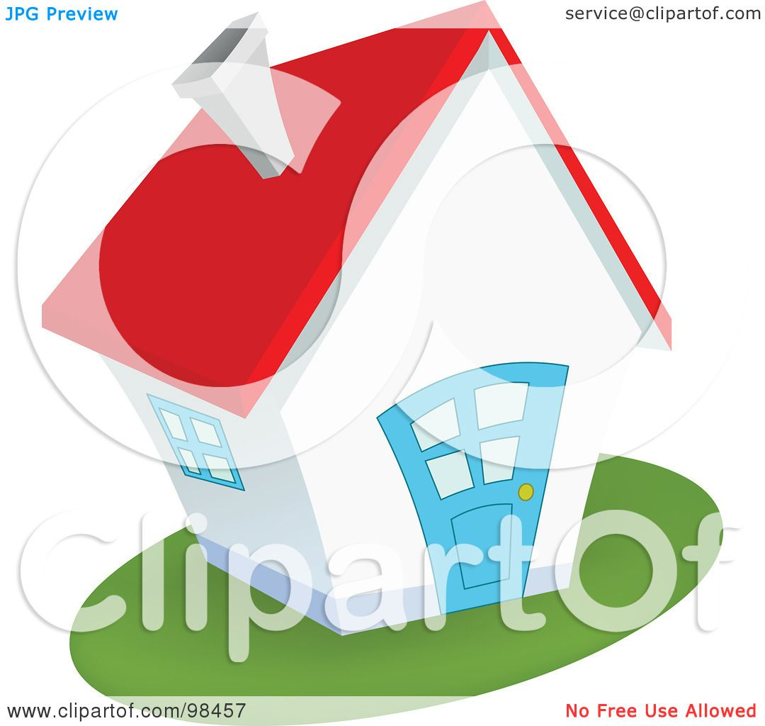 Royalty Free Rf Clipart Illustration Of A Quaint White