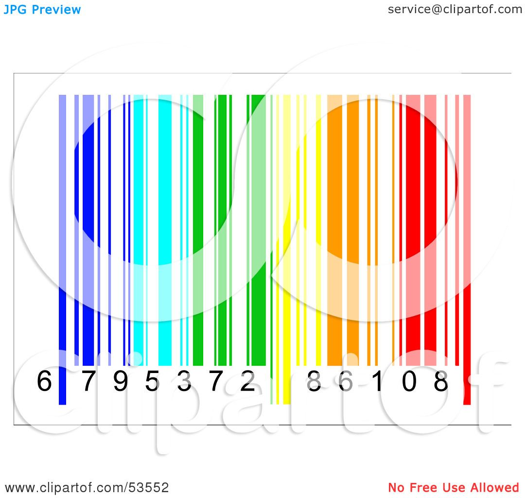 Royalty-Free (RF) Clipart Illustration of a Rainbow Colored Barcode ...
