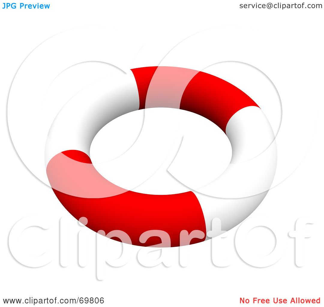 Royalty-Free (RF) Clipart Illustration of a Red And White 3d