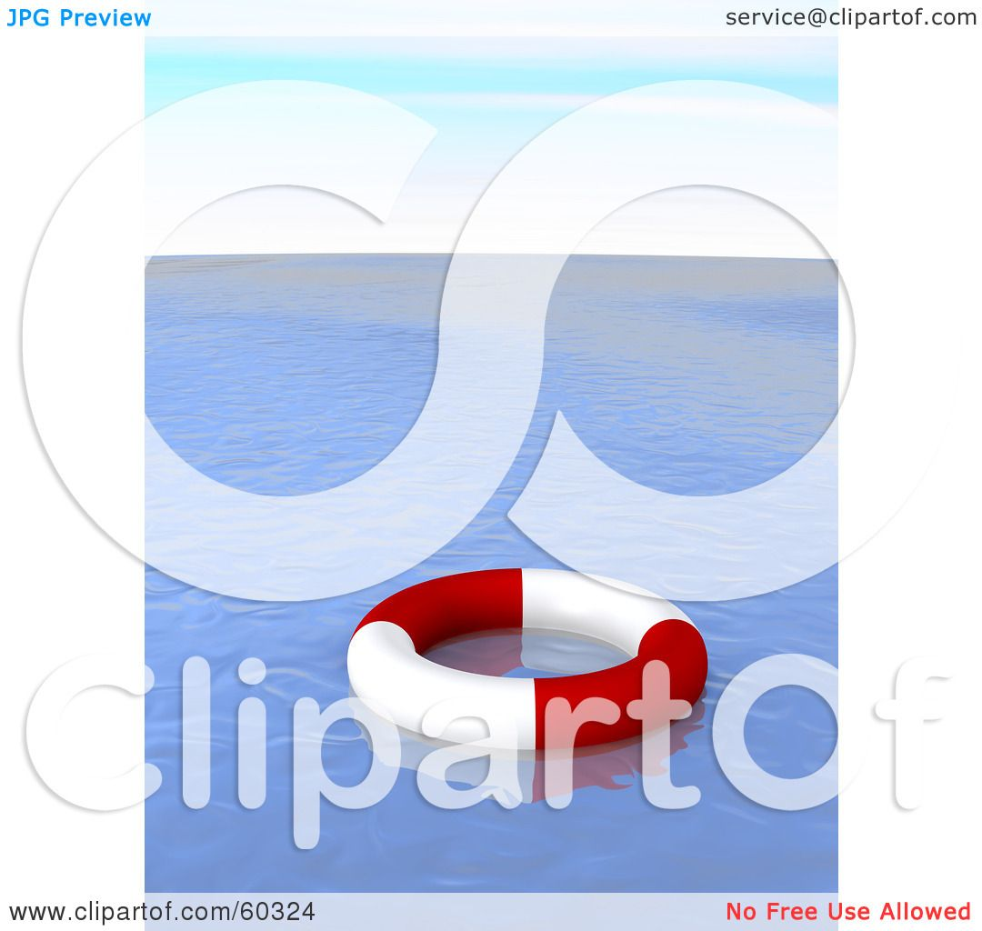 Royalty-Free (RF) Clipart Illustration of a Red And White