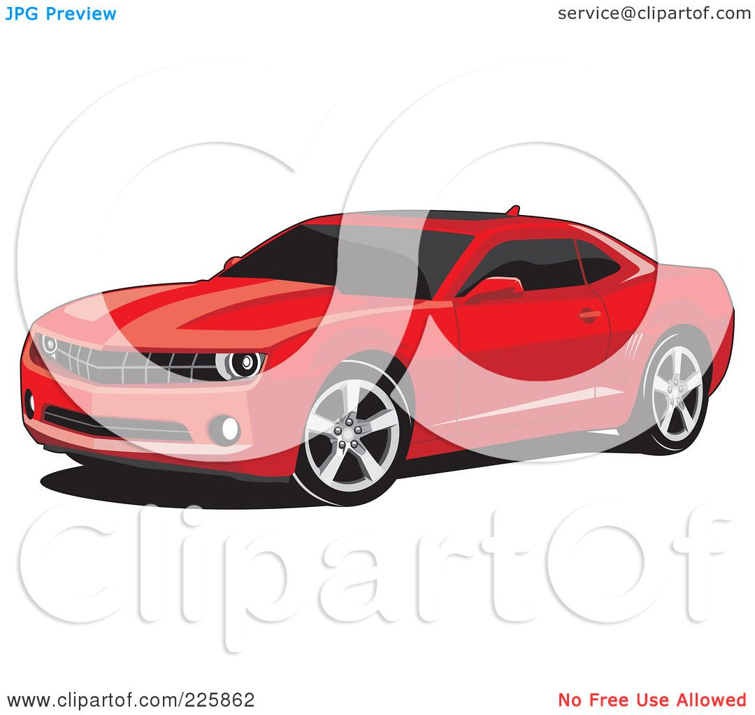 Royalty Free Rf Clipart Illustration Of A Red Camaro Car With