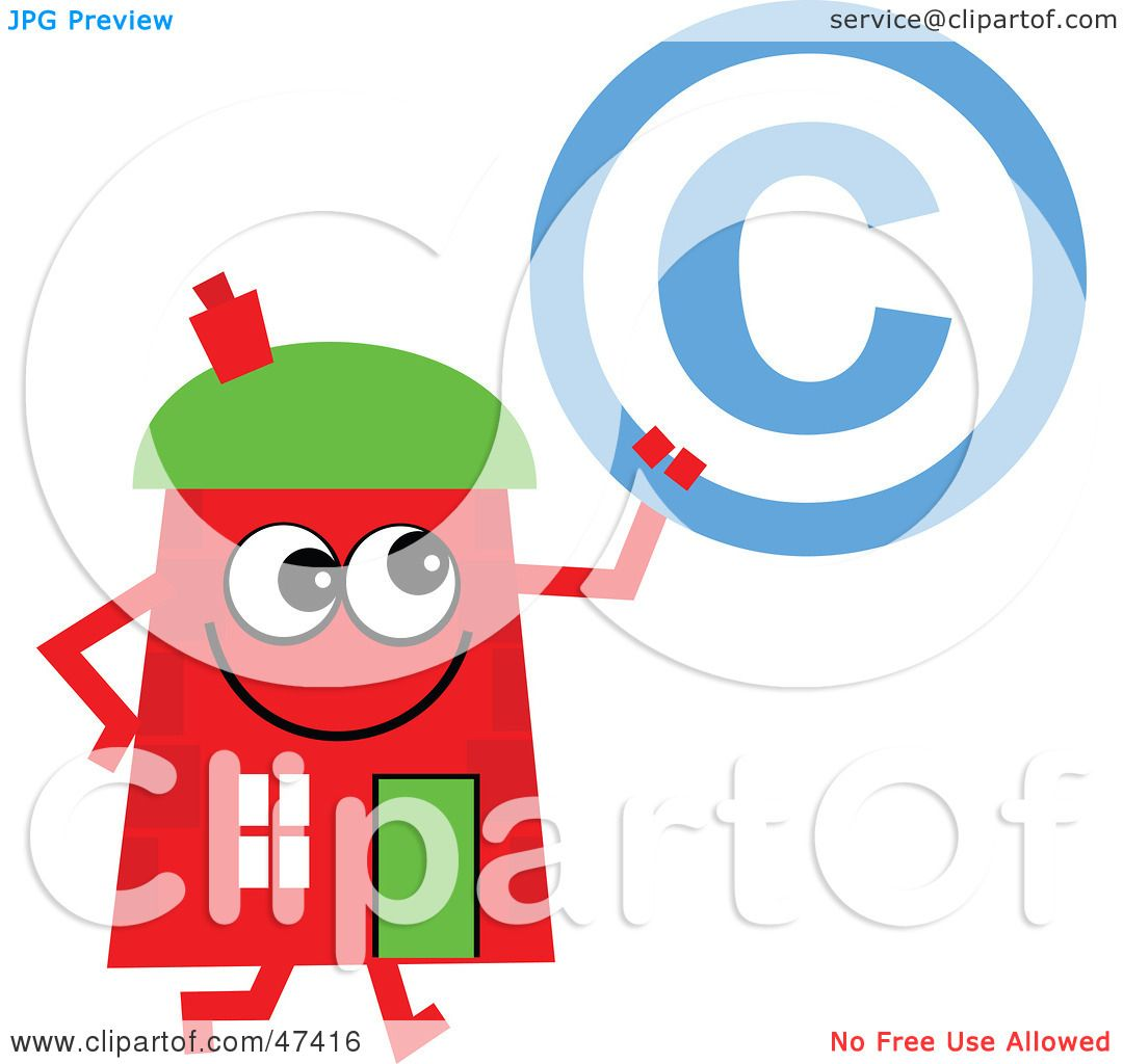 Royalty Free Rf Clipart Illustration Of A Red Cartoon House