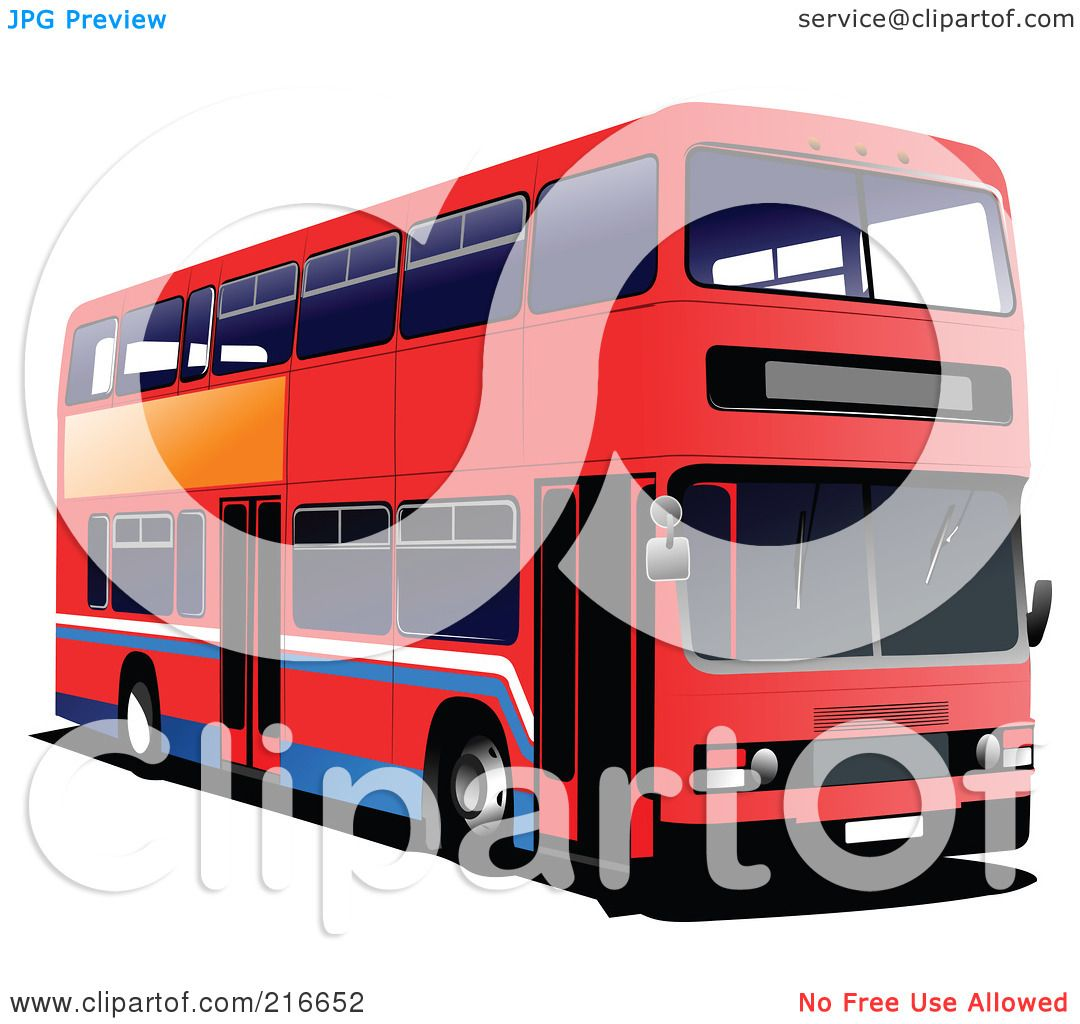 Royalty-Free (RF) Clipart Illustration of a Red Double ...