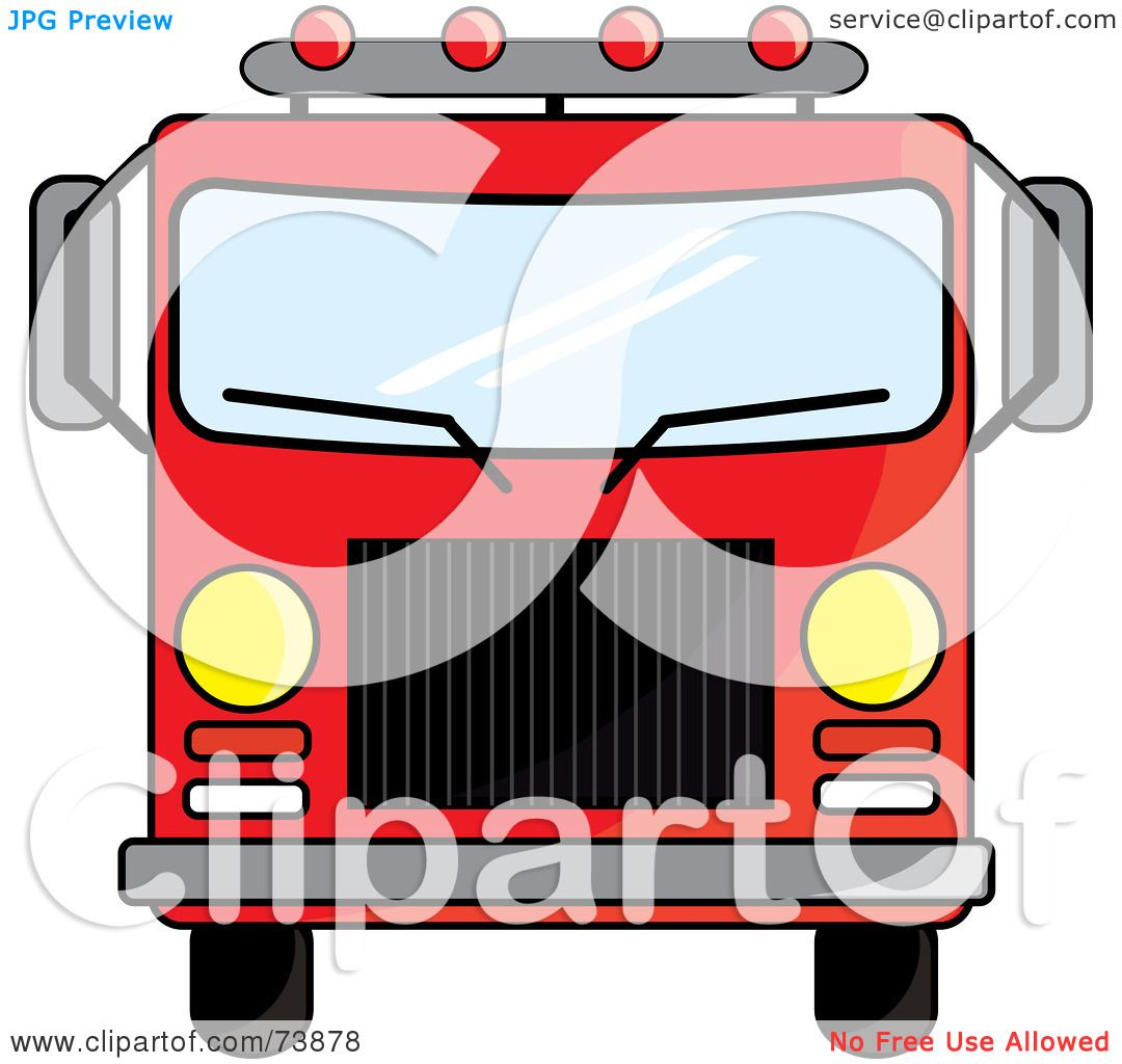 royalty free  rf  clipart illustration of a red fire truck Basic Fire Truck Clip Art fire engine clip art black and white