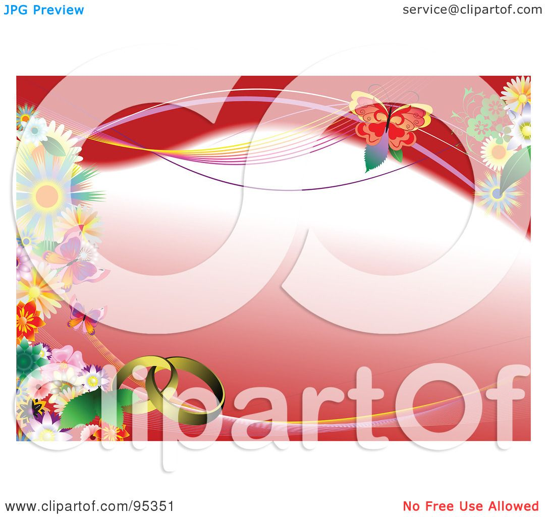 Royalty-Free (RF) Clipart Illustration of a Red Floral Engagement ...
