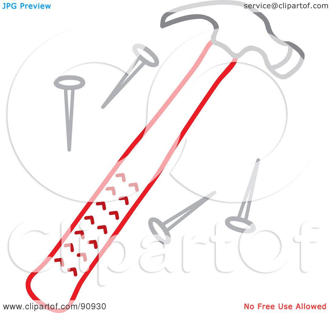 Hammer And Nail Clip Art Royalty-free (rf) clipart