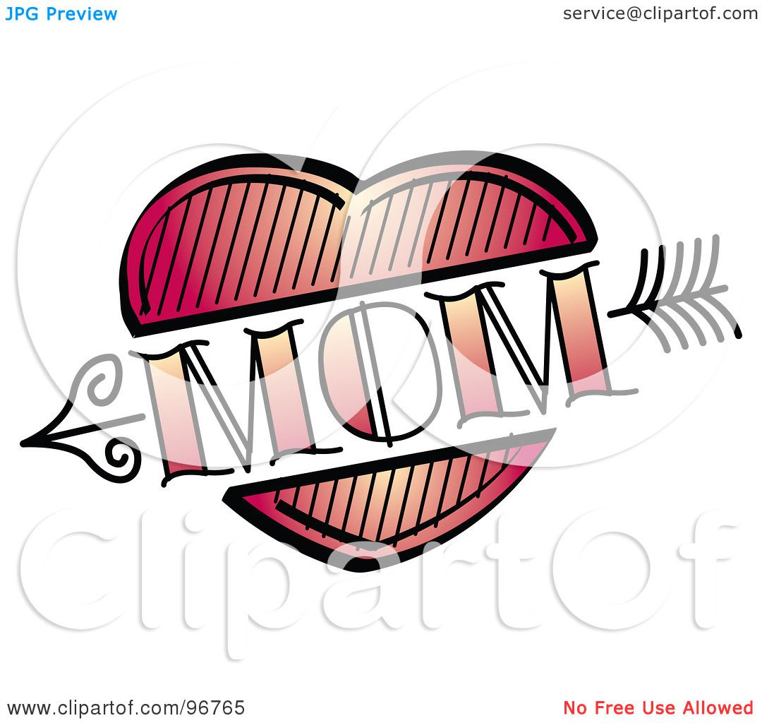 Royalty Free RF Clipart Illustration Of A Red Heart And Arrow Mom