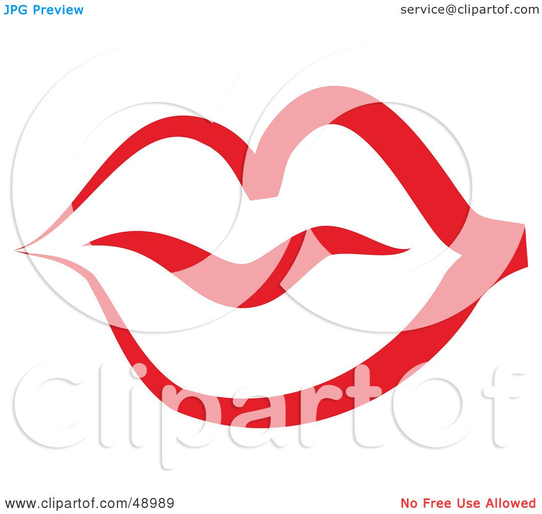 Royalty-Free (RF) Clipart Illustration of a Red Lip ...