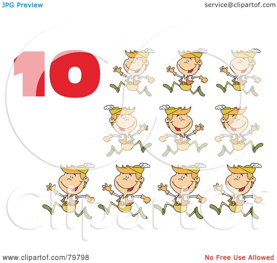 Royalty-Free (RF) Clipart Illustration of a Red Number Ten ...