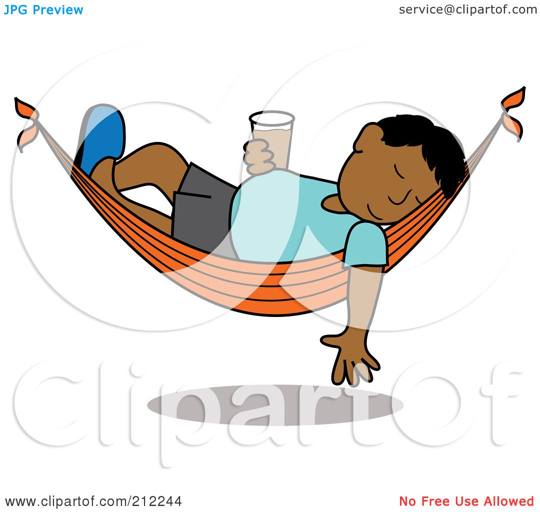 Royalty-Free (RF) Clipart Illustration of a Relaxed ...