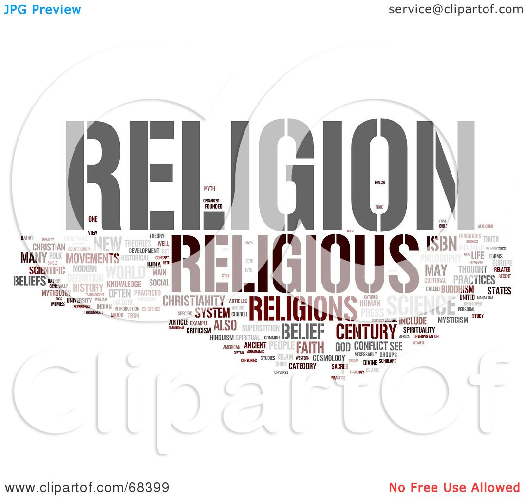 Royalty-Free (RF) Clipart Illustration of a Religion Word Collage ...