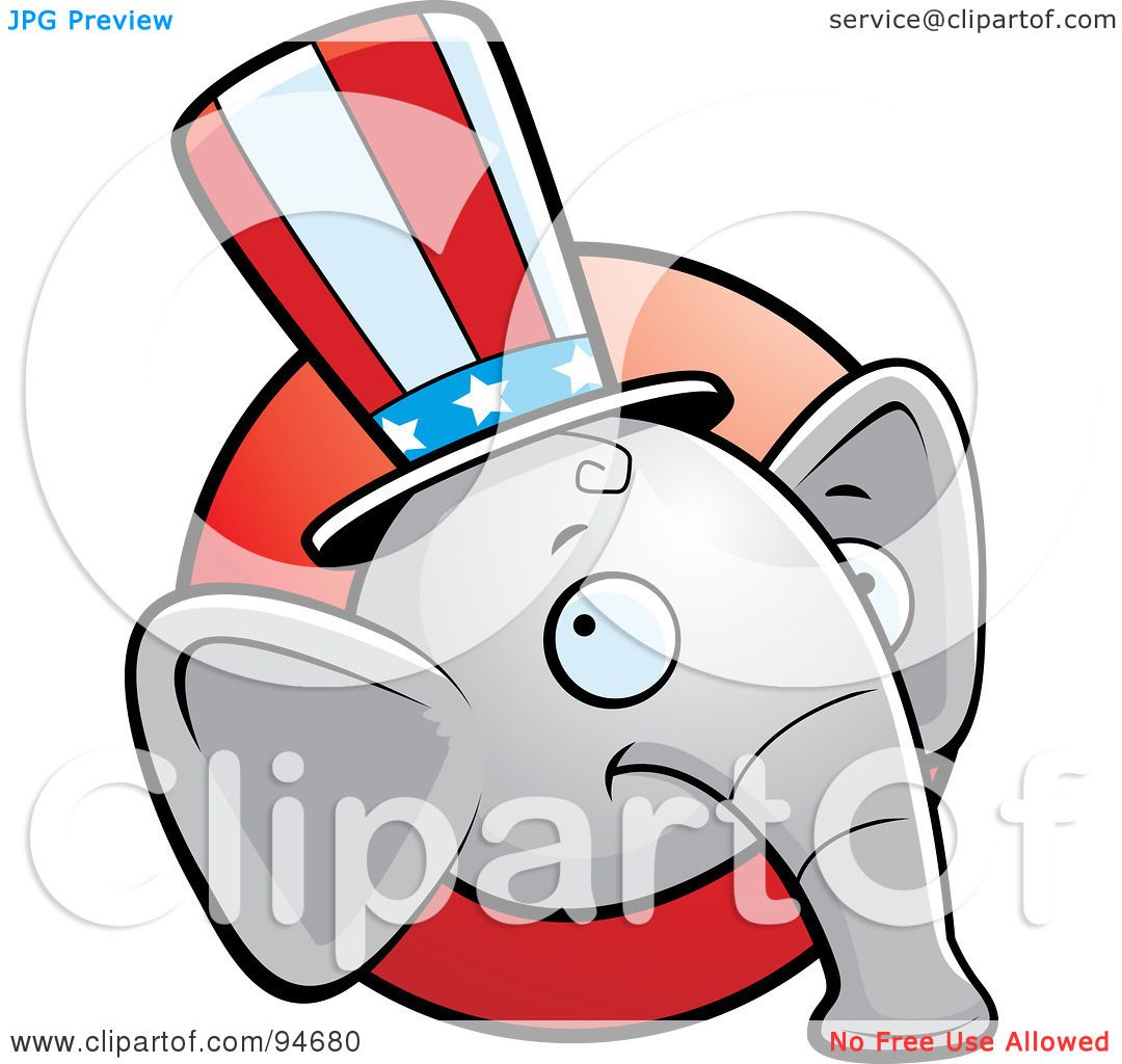 Royalty-Free (RF) Clipart Illustration of a Republican ...