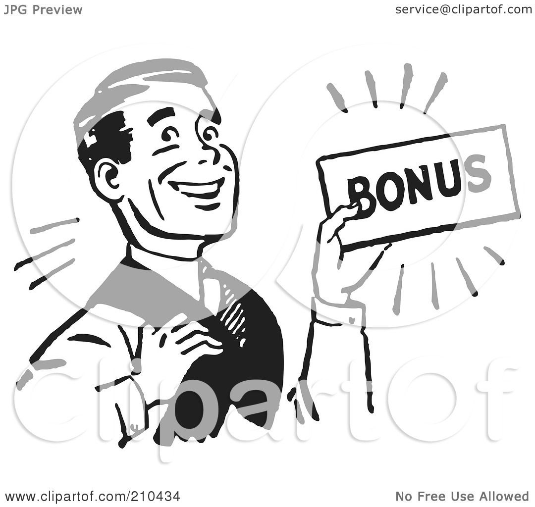 Royalty-Free (RF) Clipart Illustration Of A Retro Black