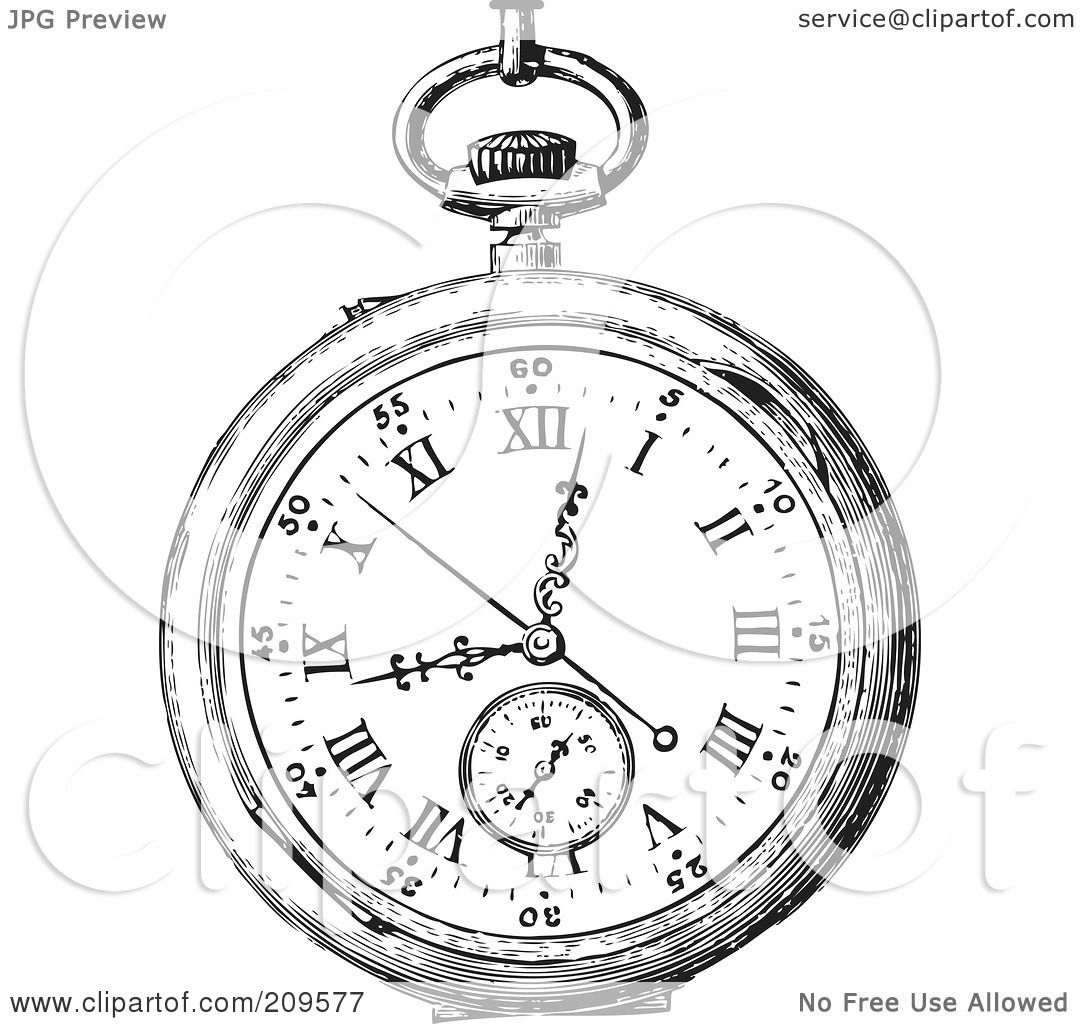 Pocket Watch Tattoo Coloring Pages