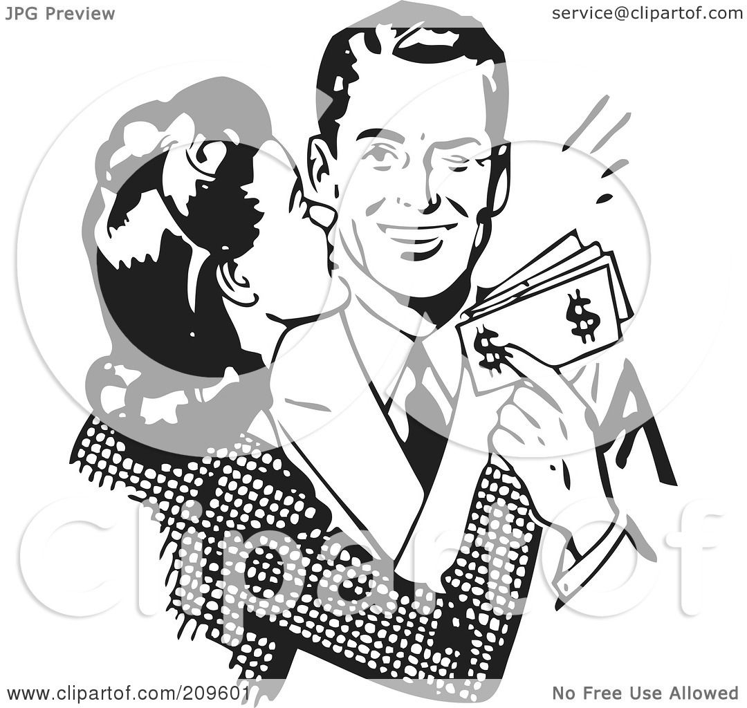 Royalty-Free Rf Clipart Illustration Of A Retro Black -4295