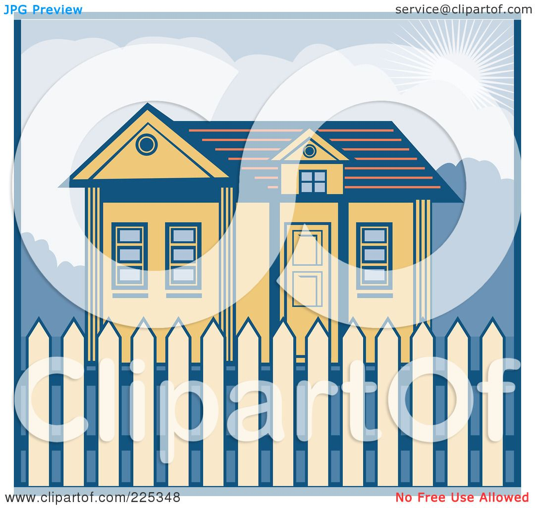 house with fence clip art - photo #48