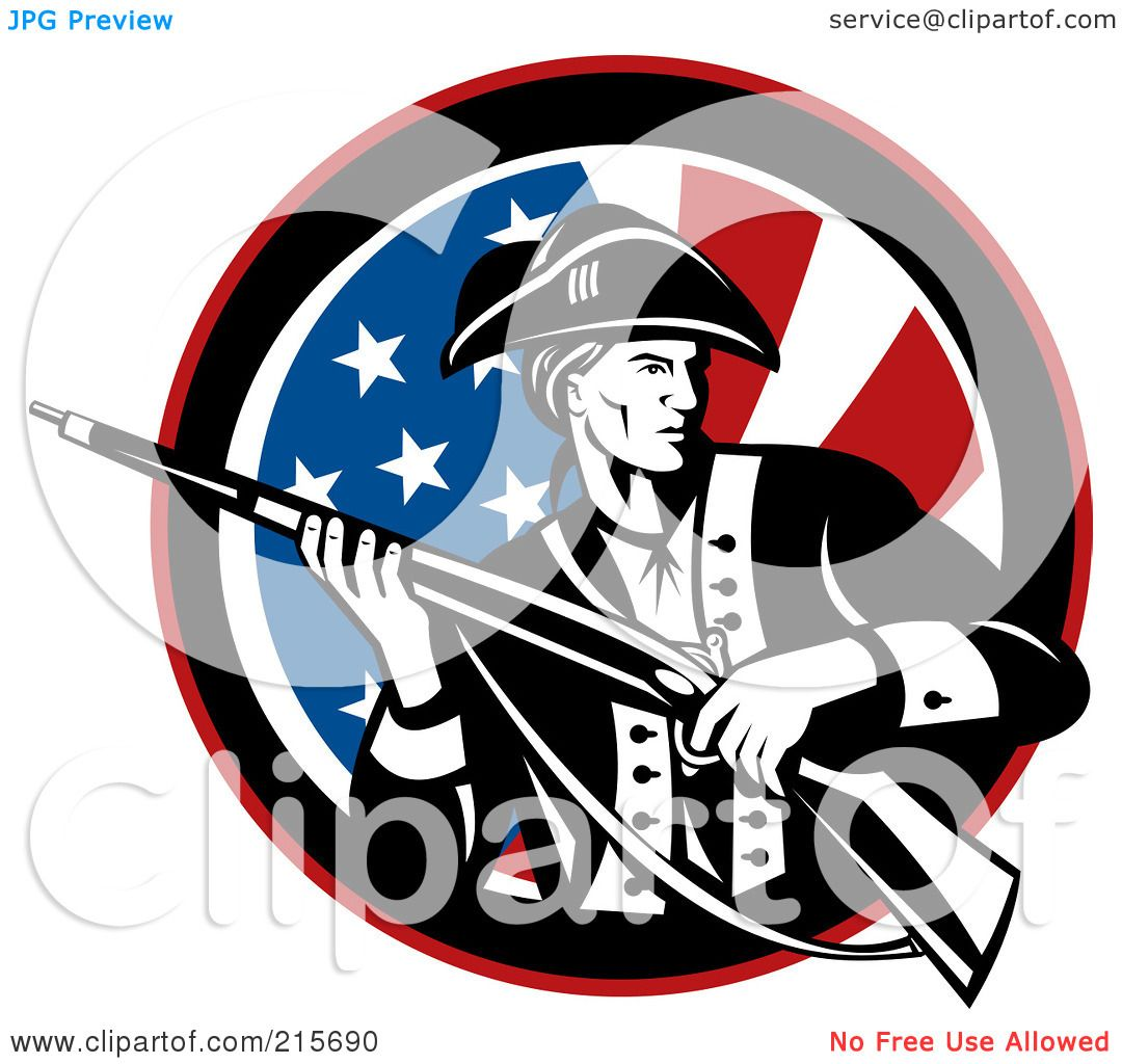 Royalty free rf clipart illustration of a revolutionary for American revolutionary war tattoos