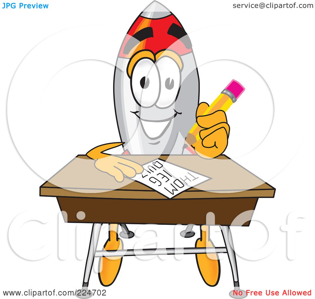 Cartoon Characters Quizzes : Royalty free rf clipart illustration of a rocket mascot