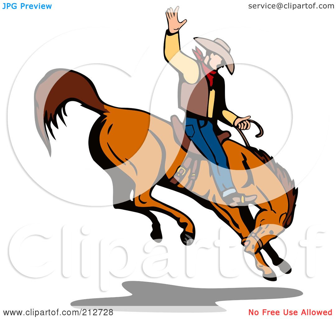royalty free rf clipart illustration of a rodeo cowboy riding a rh clipartof com rodeo clipart free rodeo cowboy clipart