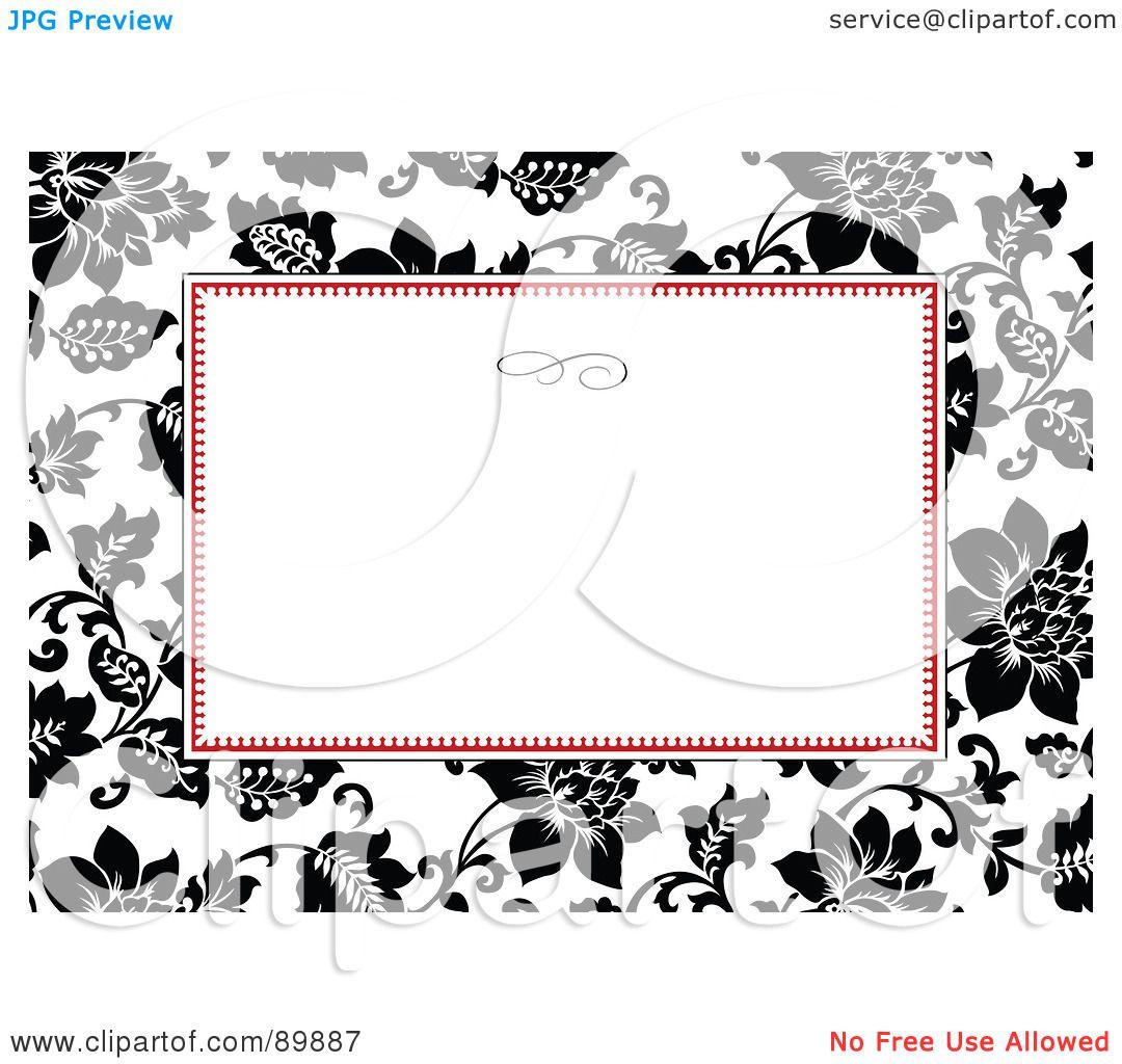 RoyaltyFree RF Clipart Illustration of a Rose Invitation Border – Free Invitation Clipart