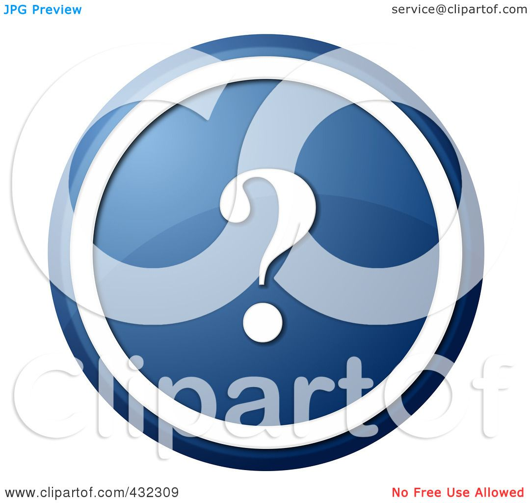 Royalty-Free (RF) Clipart Illustration Of A Round Blue