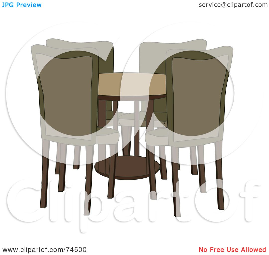 Royalty Free Rf Clipart Illustration Of A Round Dining