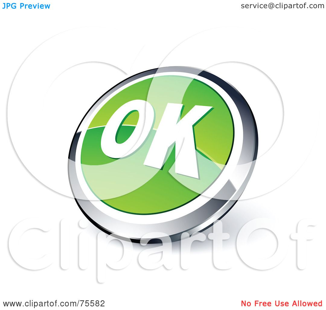 Royalty-Free (RF) Clipart Illustration Of A Round Green And Chrome ...