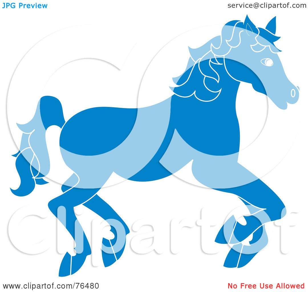 Royalty-Free (RF) Clipart Illustration of a Running Blue Carousel ...