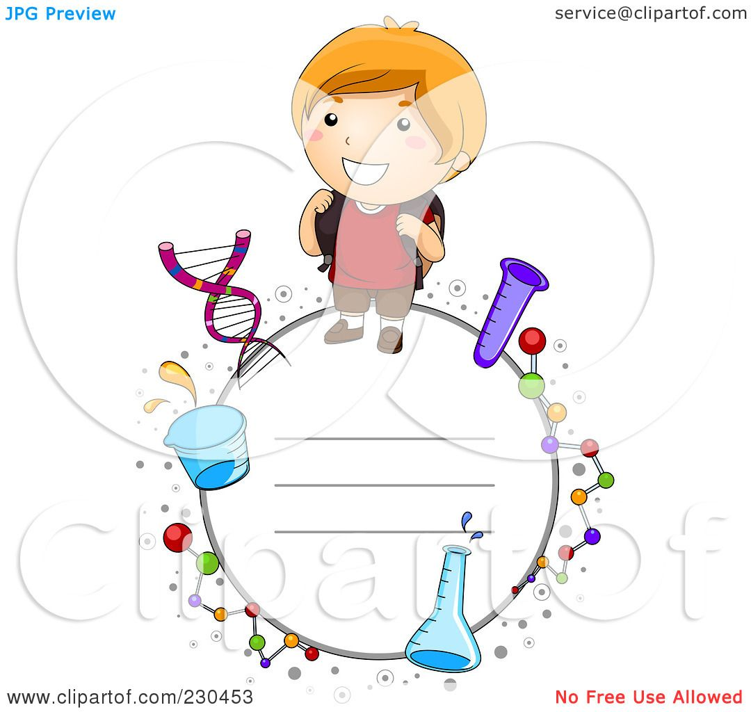 Royalty-Free (RF) Clipart Illustration of a School Boy Frame With ...