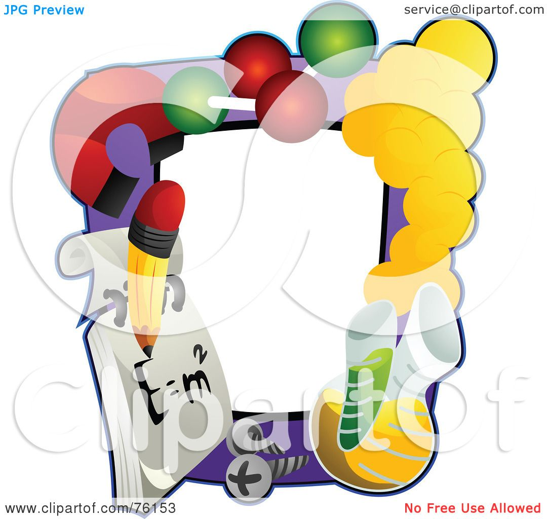 Royalty-Free (RF) Clipart Illustration of a School Science Frame ...