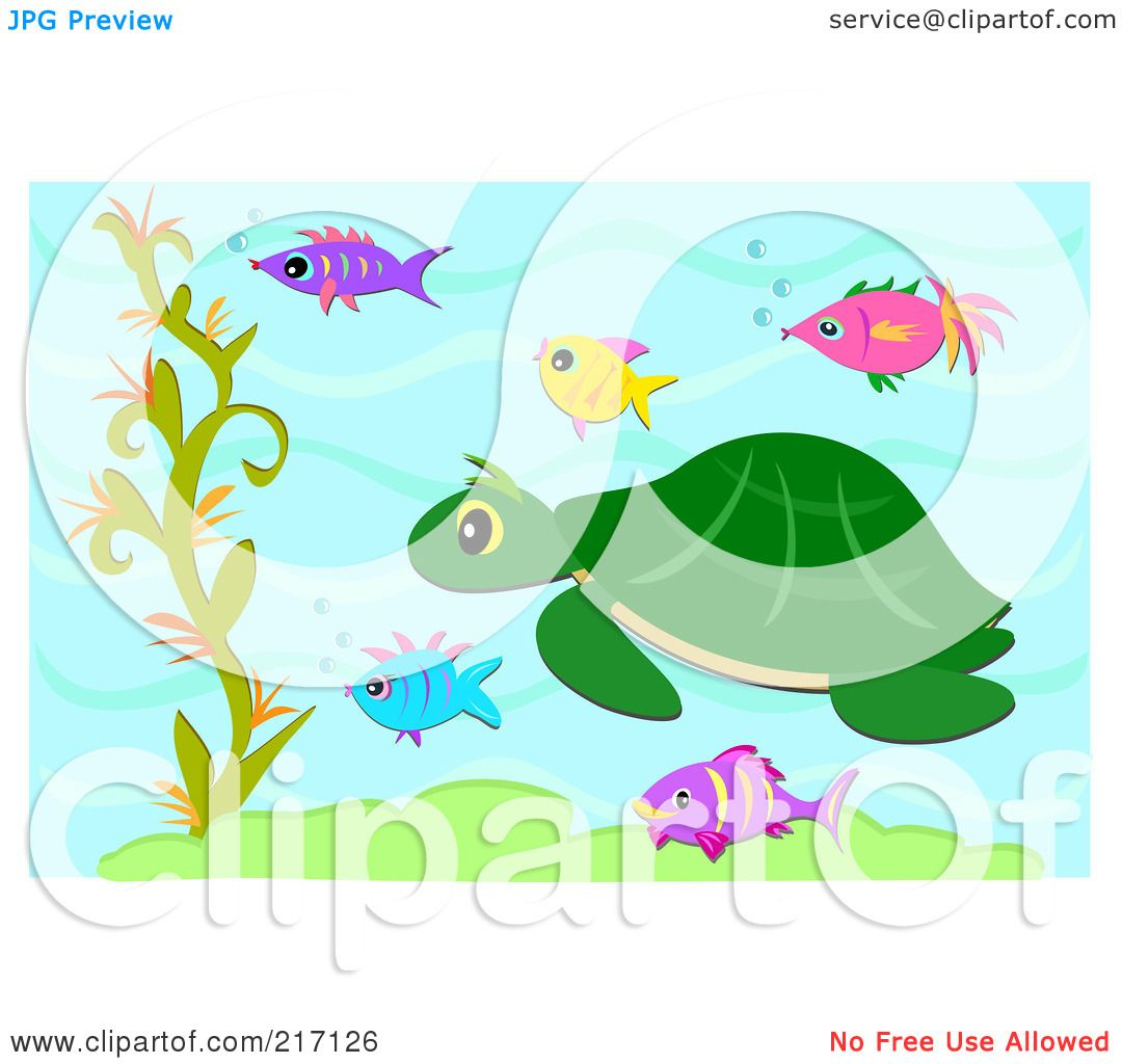 Royalty Free Rf Clipart Illustration Of A Sea Turtle And