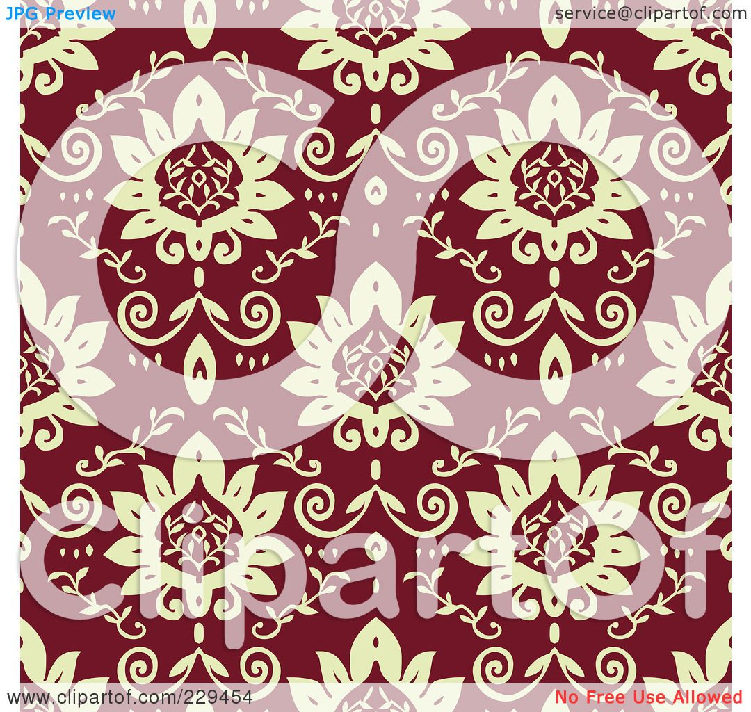 Maroon Flowers Clipart