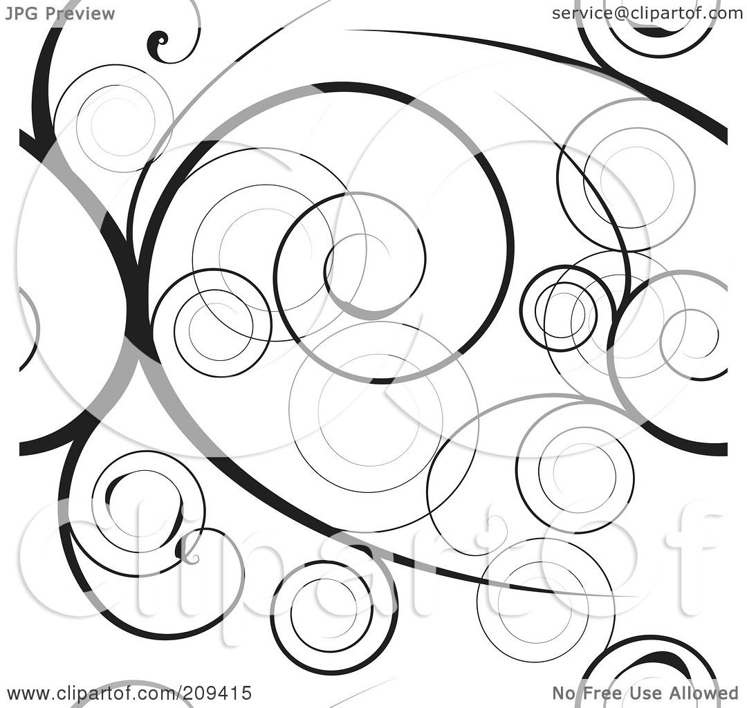 Royalty Free Rf Clipart Illustration Of A Seamless Black