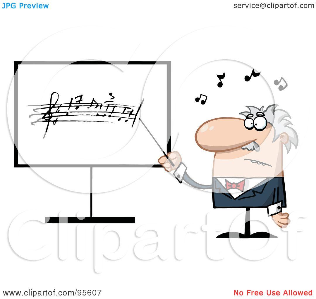 Royalty-Free (RF) Clipart Illustration of a Senior Music ...