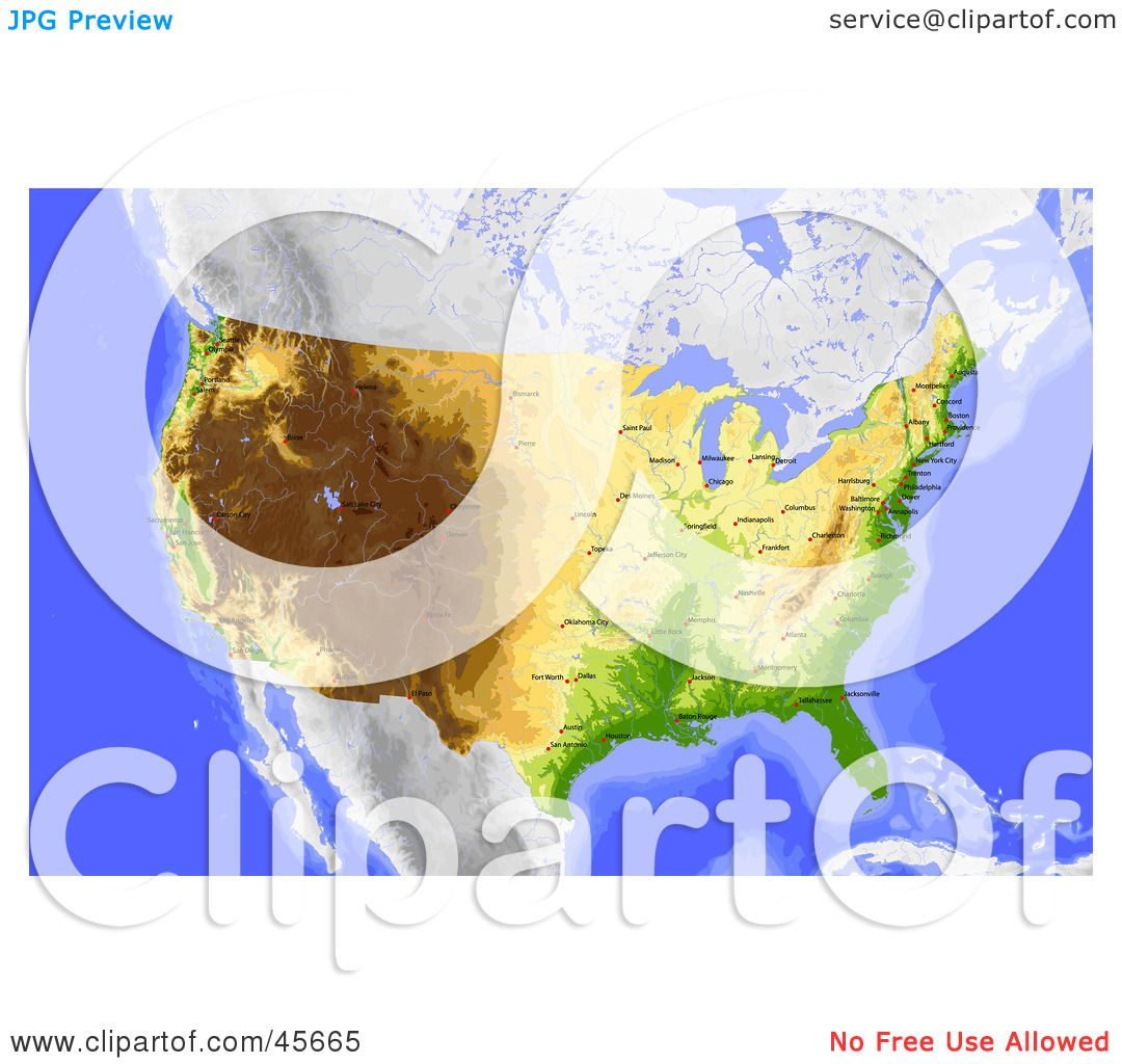 Royalty-free (RF) Clipart Illustration of a Shaded Contour Map Of ...