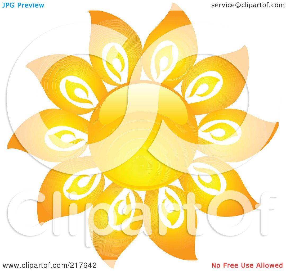 Of a shiny orange hot summer sun design element 16 by kj pargeter