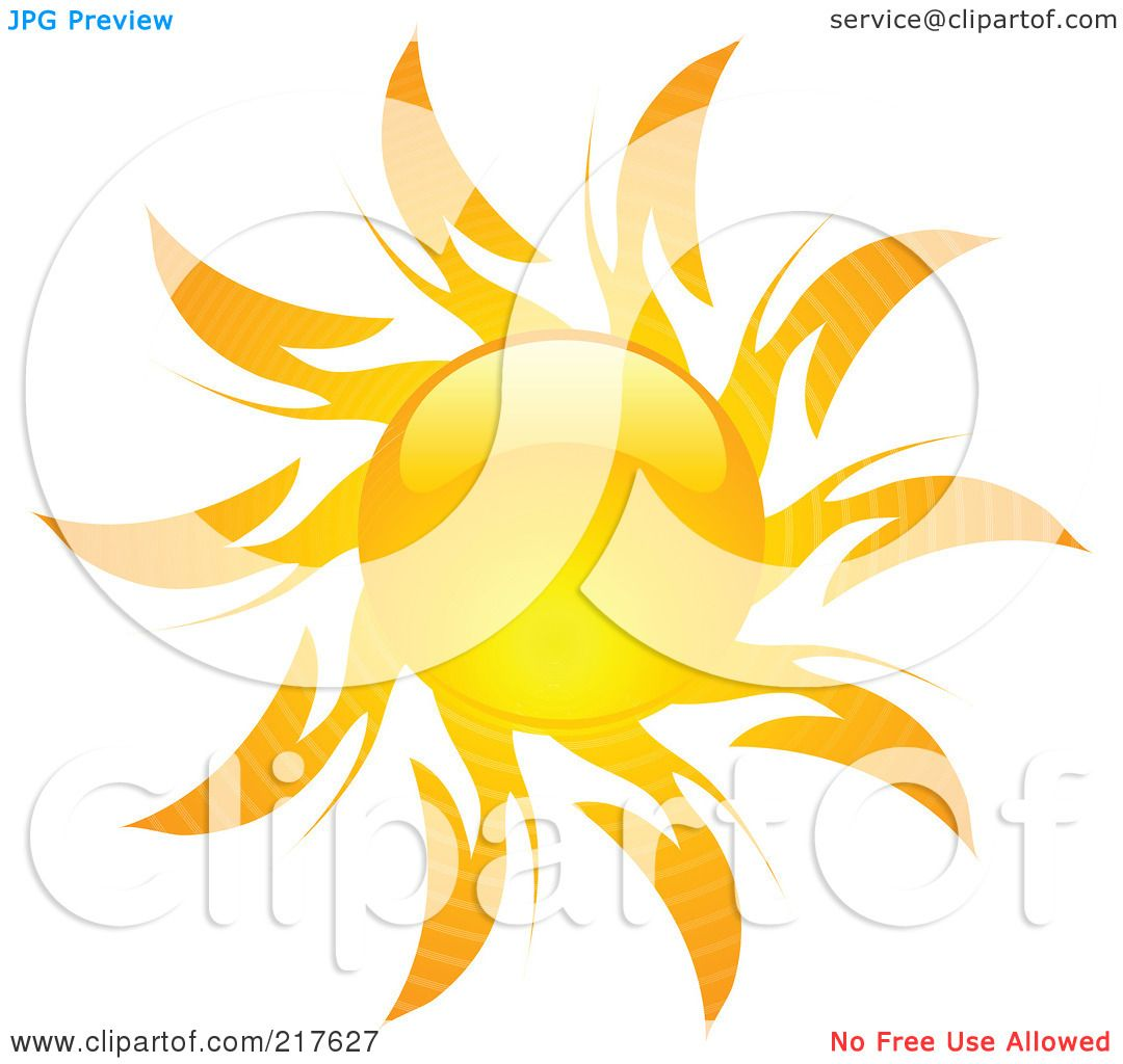 Hot Sun Clipart Hot summer sun design