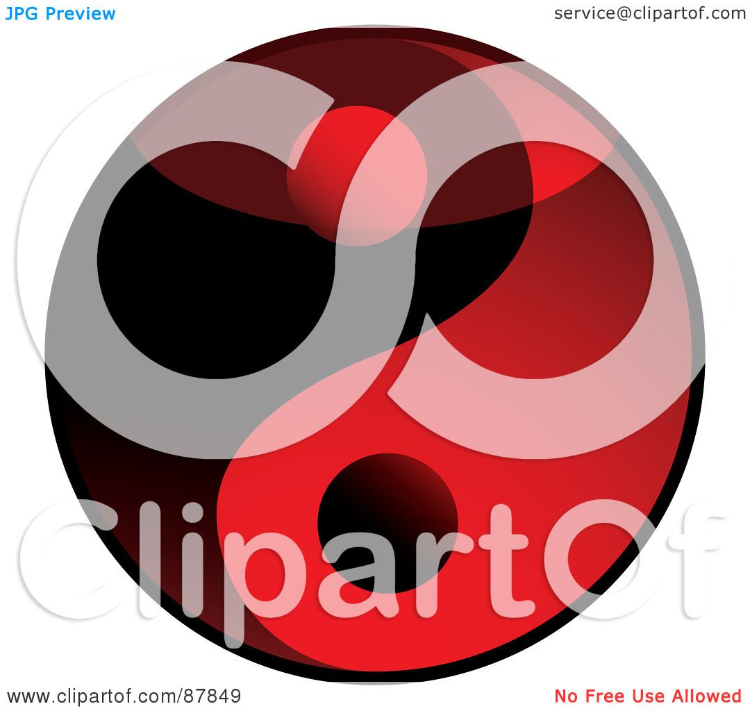 Royalty free rf clipart illustration of a shiny red and black 3d royalty free rf clipart illustration of a shiny red and black 3d yin yang symbol by michaeltravers buycottarizona Choice Image