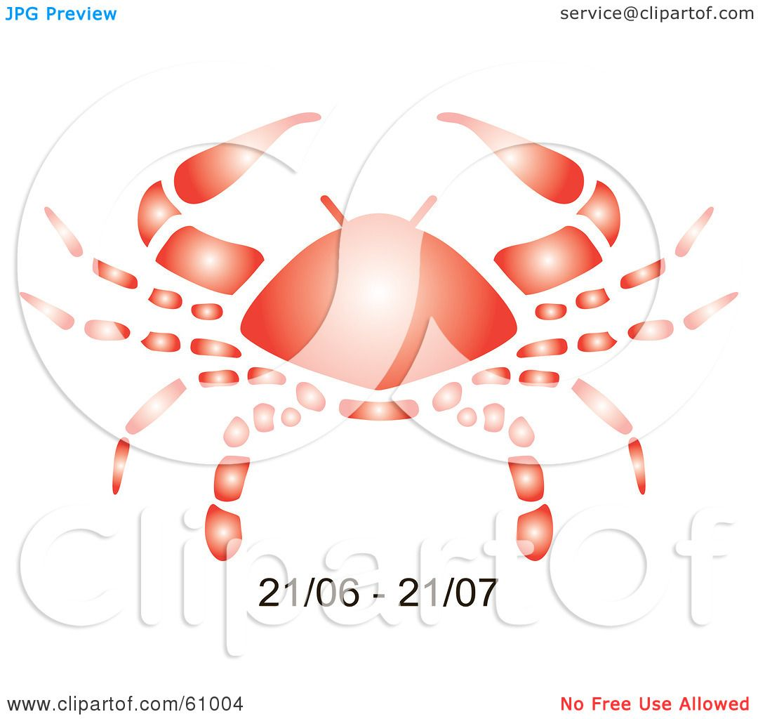 Royalty Free Rf Clipart Illustration Of A Shiny Red Cancer
