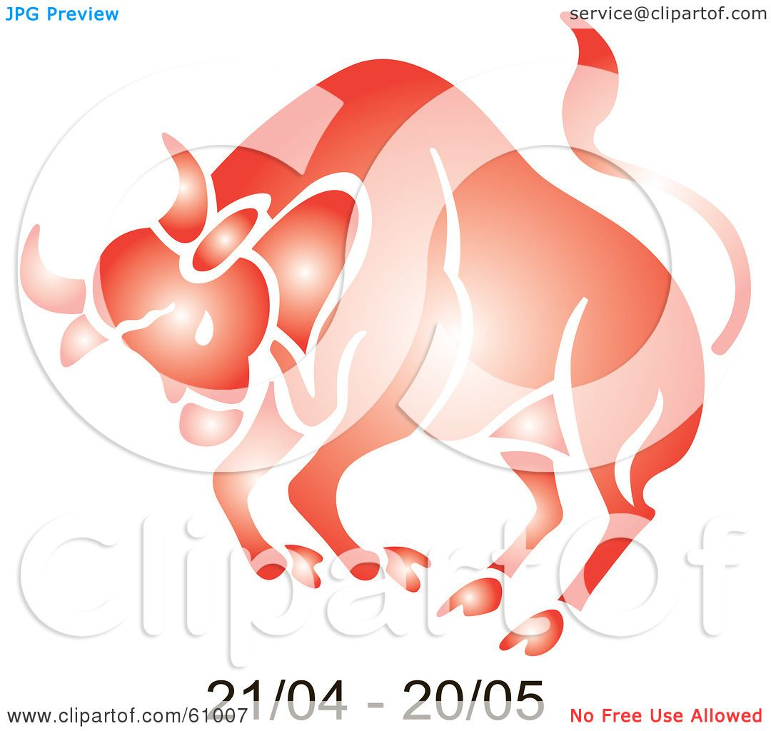 Royalty Free Rf Clipart Illustration Of A Shiny Red Taurus