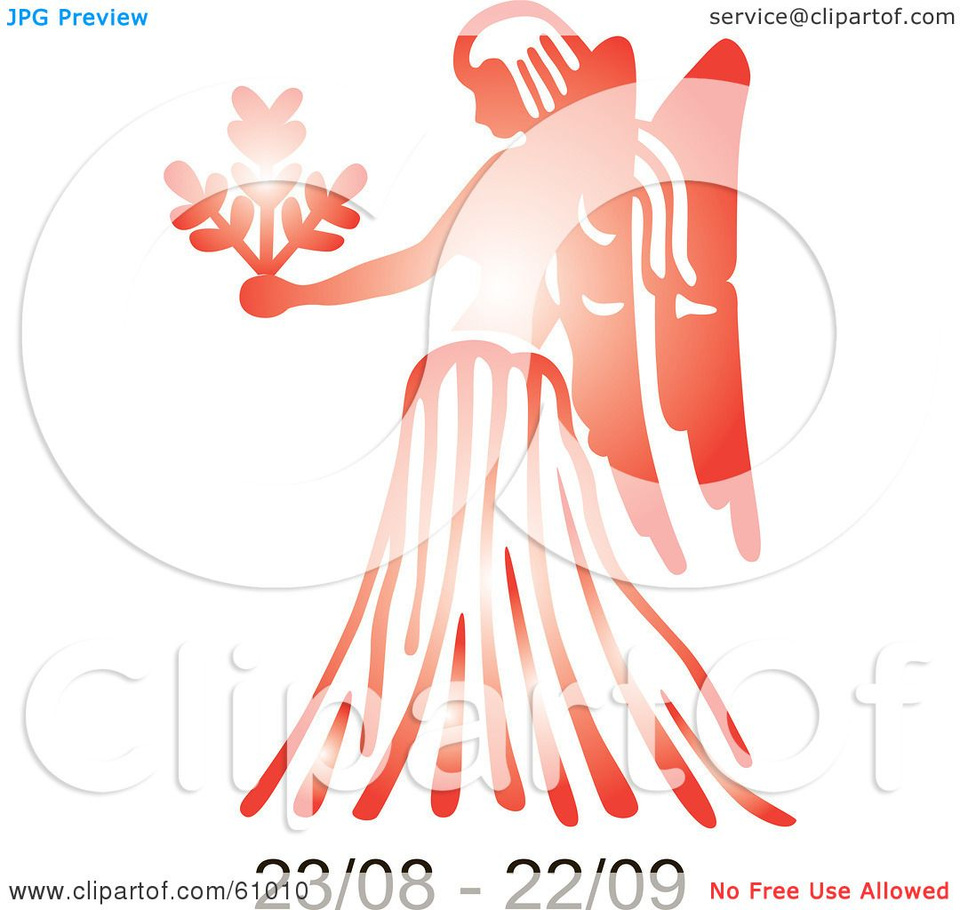 Royalty Free Rf Clipart Illustration Of A Shiny Red Virgo