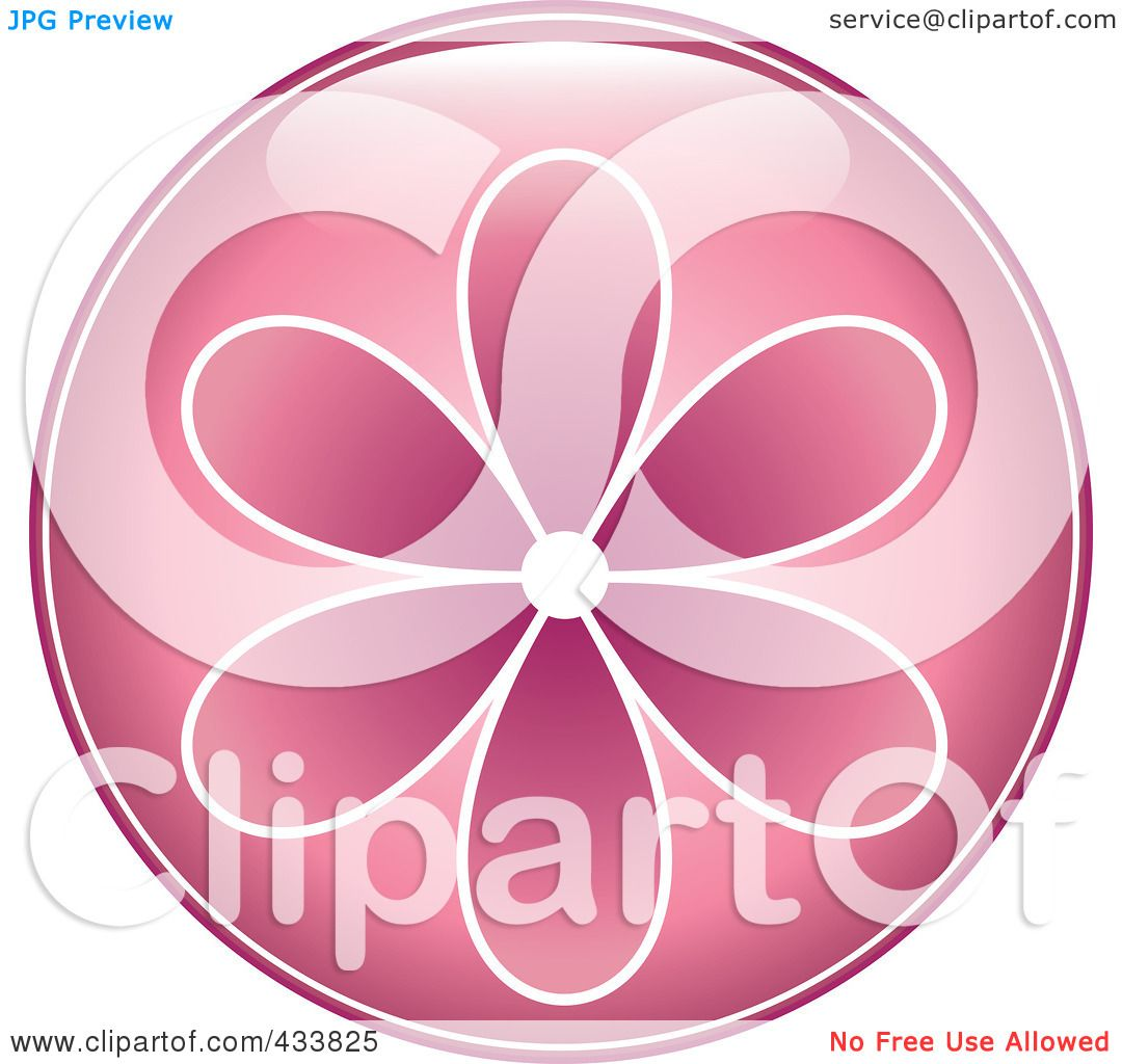 Royalty free rf clipart illustration of a shiny round pink flower royalty free rf clipart illustration of a shiny round pink flower icon by pams clipart mightylinksfo