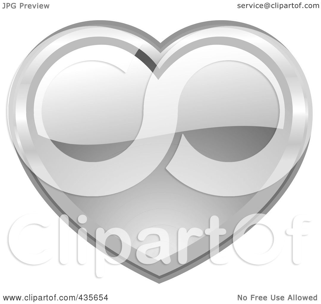Royalty-Free (RF) Clipart Illustration of a Shiny Silver ...