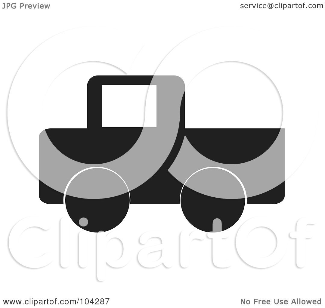Green truck clipart royalty free rf pickup truck clipart - Royalty Free Rf Clipart Illustration Of A Silhouetted Black Pickup Truck By Jr
