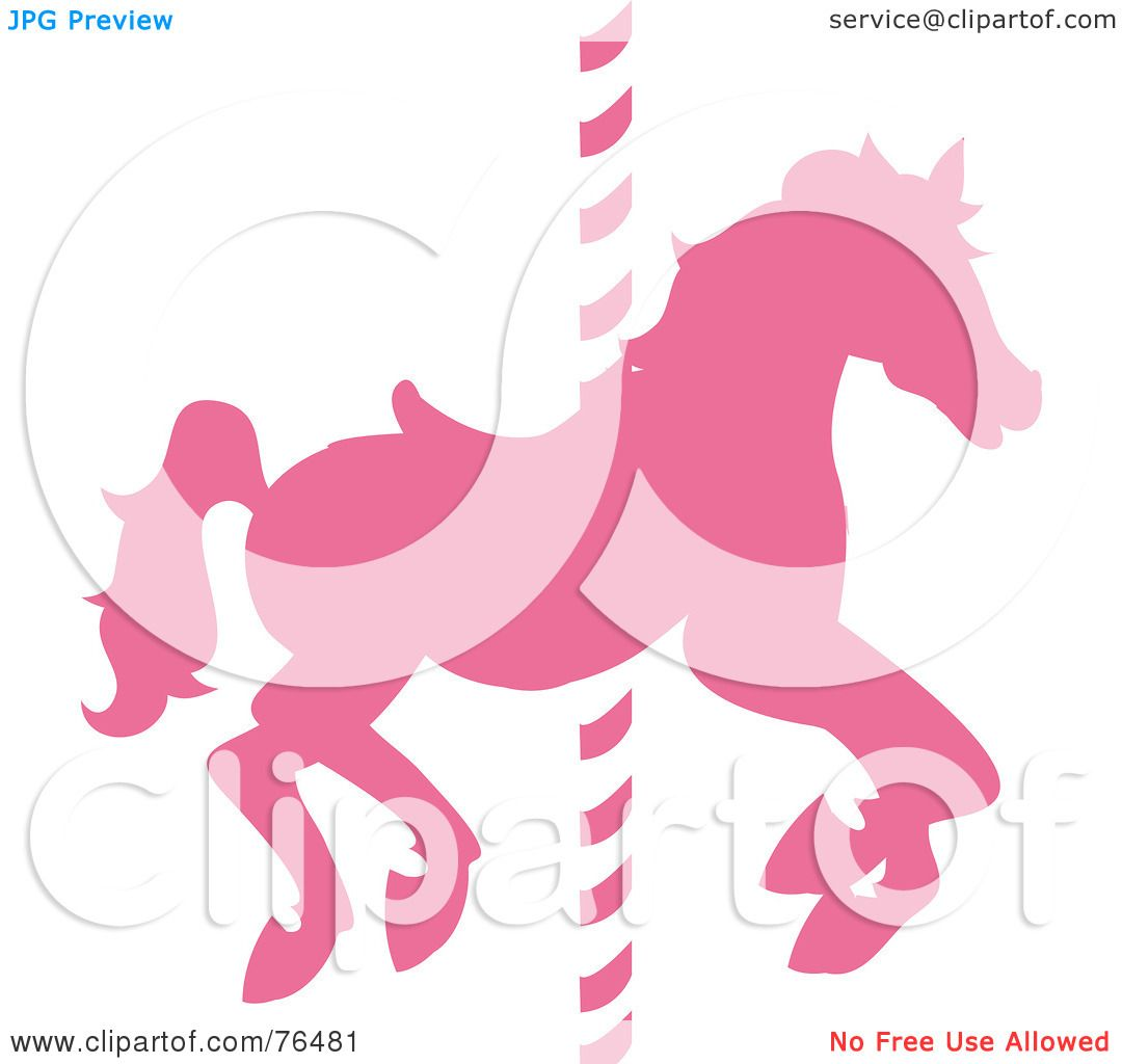 Royalty-Free (RF) Clipart Illustration of a Silhouetted Pink ...