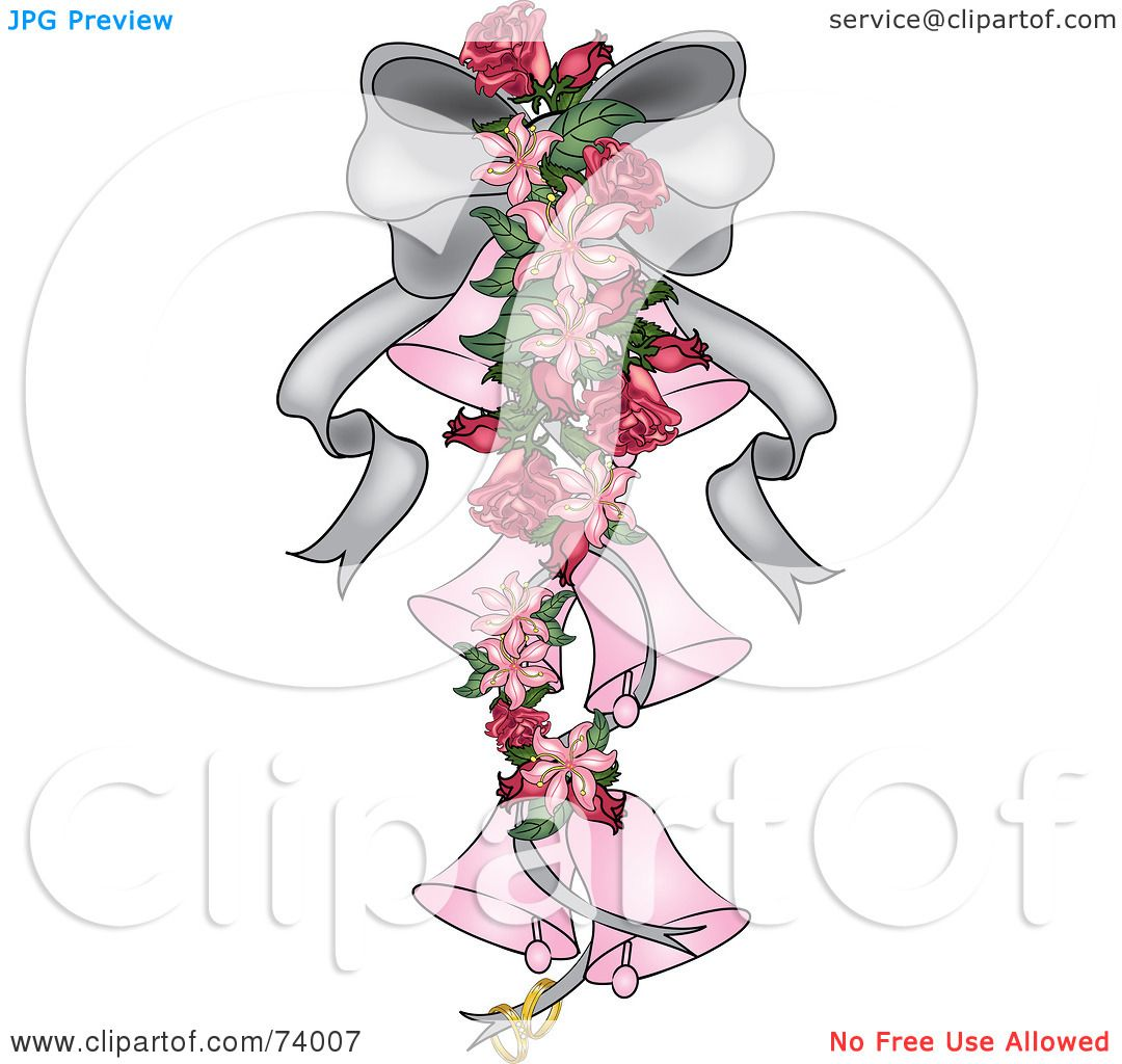 Royalty Free RF Clipart Illustration Of A Silver Ribbon With
