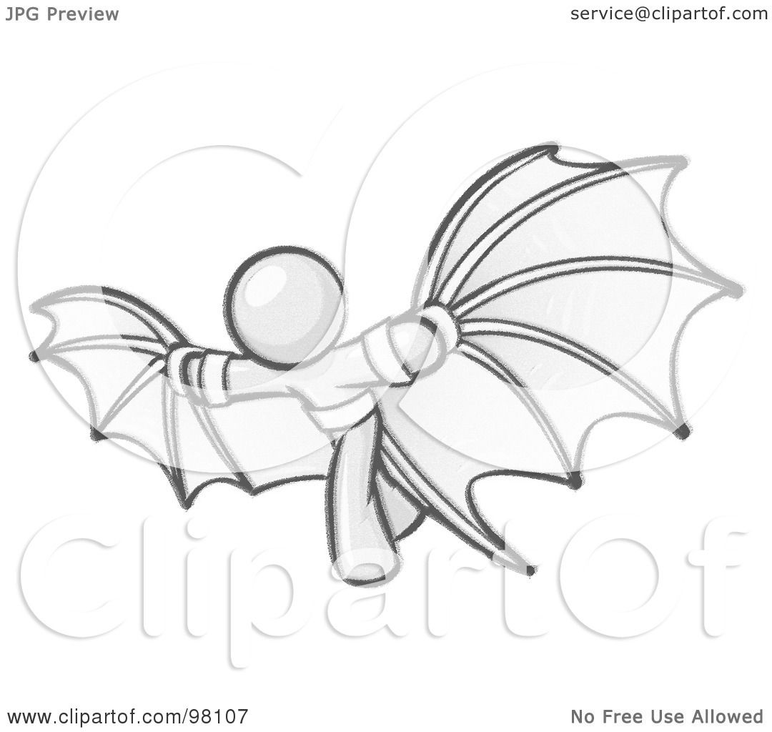 Royalty-Free (RF) Clipart Illustration of a Sketched Design