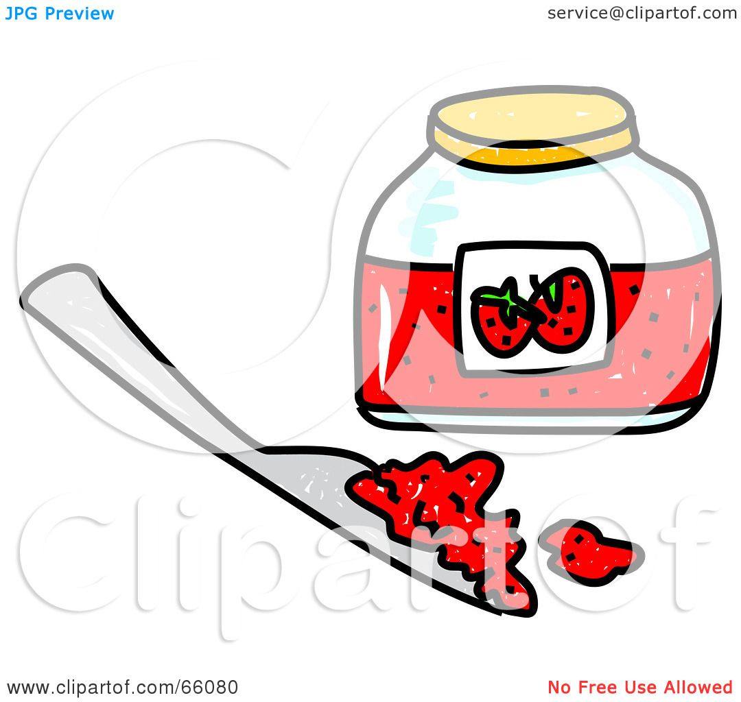 Royalty-Free (RF) Clipart Illustration of a Sketched Jar Of Jam ...