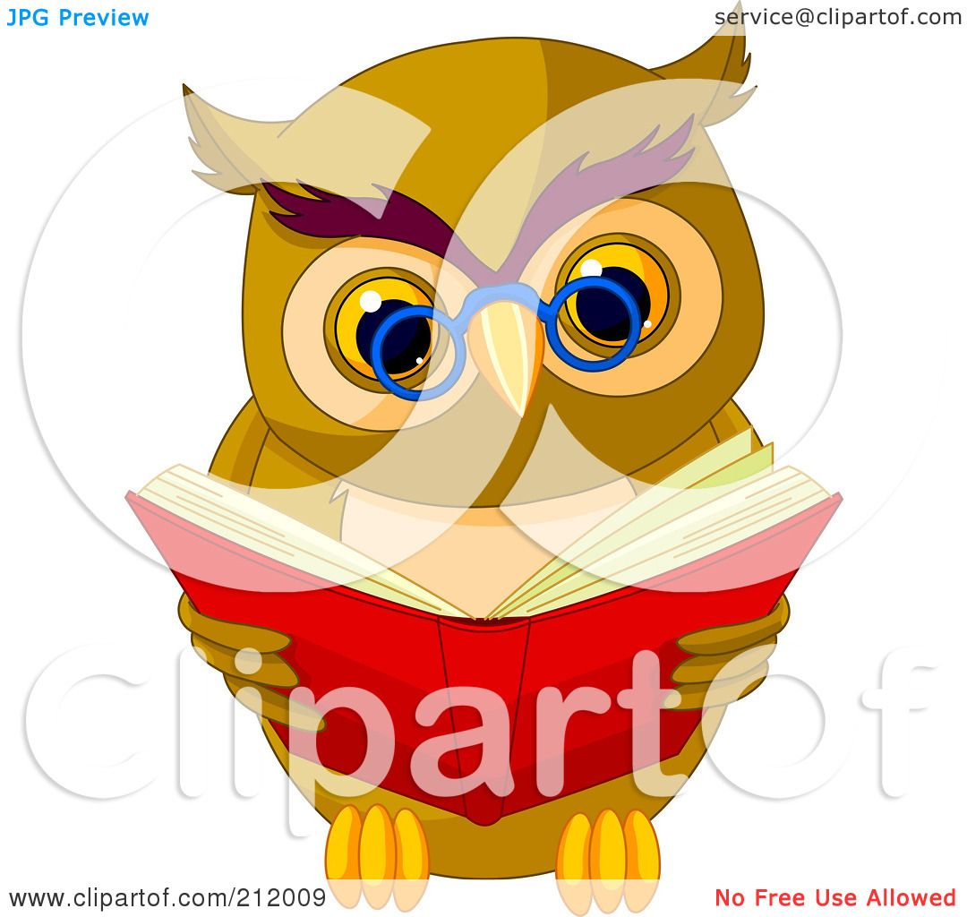 Royalty-Free (RF) Clipart Illustration of a Smart Owl ...