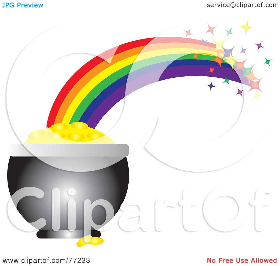 royalty free rf clipart illustration of a sparkling rainbow